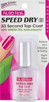 nutra nail speed dry 30 second top coat with green tea
