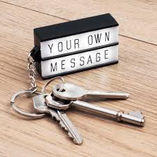 box keychain a genuine mini lightbox led light keychain