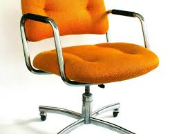 office chair modern small orange laminated fabric cozy tufted