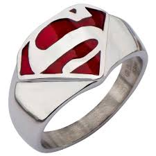 man steel rings images Dc comics superman man of steel stainless steel ring cool rings jpg