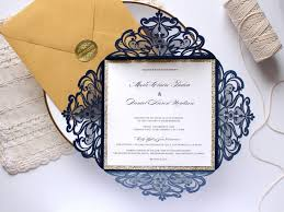 wedding invitations blue 25 x navy and gold wedding invitation gold glitter wedding invite