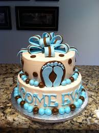 footprints baby shower cake cakecentral com