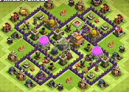 layout coc town hall level 7 12 best town hall 7 hybrid bases 2018 new 3 air defenses