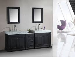 adorna 88 inch double sink bathroom vanity set with trough style sinks