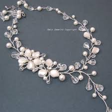 wedding necklace pearls images Pearls bridal necklace swarovski pearl wedding necklace ivory jpg