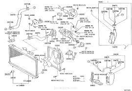 radiator u0026 water outlet toyota part list jp carparts com
