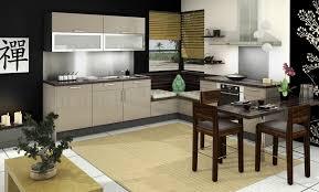 cuisine beige et tapis plan de travail cuisine rutistica home solutions