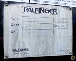 palfinger pk 11502 b mounted to 2004 gmc c6500 truck crane for in