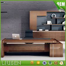 Office Desk Leather Top High Gloss Ceo Office Furniture Luxury Office Table Executive Desk