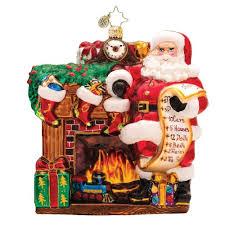 santa claus glass ornaments christmas wikii