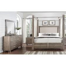 7 piece bedroom set king gray silver contemporary 7 piece king canopy bedroom set buena