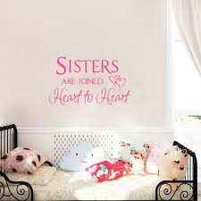 aliexpress com buy sisters room art wall sticker sisters are