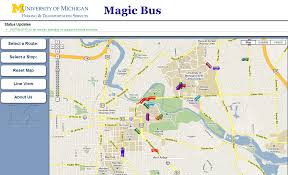Map Of University Of Michigan Magic Bus On City Go Round