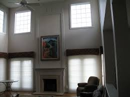 living room charming high ceiling window treatments living room
