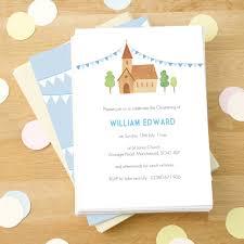 Christening Invitation Card Personalised Boy U0027s Christening Invitations By Made By Ellis