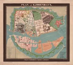 Copenhagen Map 1850 Copenhagen Map København Kjøbenhavn Majesty Maps U0026 Prints