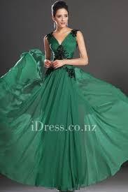 a line teal one strap chiffon long prom dress ball dresses nz