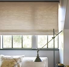roman shades in solids textured or patterned fabric are simple