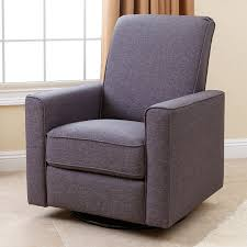 Swivel Glider Recliner Chair by Davinci Piper All Purpose Upholstered Recliner Grey With Cream