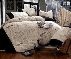 Vintage Duvet Cover Aliexpress Com Buy Linen Vintage Black And White Bedding