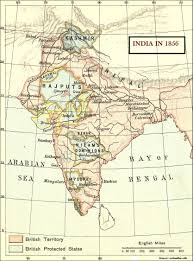 States Of India Map by Modern Indian History Lord Dalhousie 1848 1856