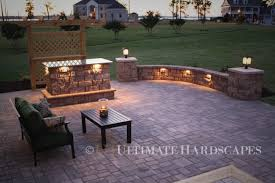 Backyard Patio Lighting Ideas by Patio By Ultimate Hardscapes Custom Outdoor Builder Chesapeake