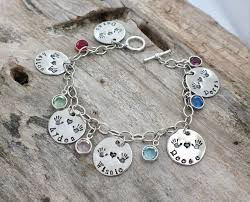Personalized Bangle Bracelets Birthstone Bracelet For Mom Mom Gift Mom Bracelet With Kids