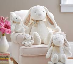 stuffed bunnies for easter white bunny plush collection pottery barn kids