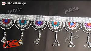 home decor ideas from waste diy silver toran bandanwaars door hangings from waste dvd how to