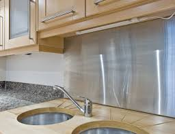 Stainless Steel Kitchen Backsplashes Stainless Steel Metal Kitchen Backsplash Awesome Kitchen