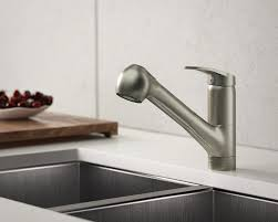 kitchen pull out faucet 708 bn brushed nickel single handle pull out kitchen faucet
