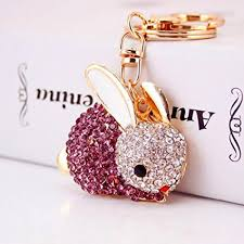 cute key rings images Jzcky shzrp cute rabbit shape crystal rhinestone jpg