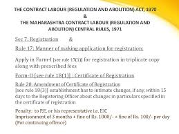 compliance under labour laws in india