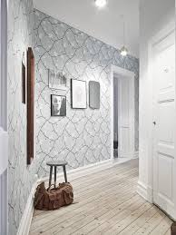tapeten flur florale tapete in weiß und pastellgrün im flur interior