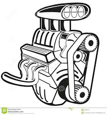 cartoon car black and white engine clipart many interesting cliparts