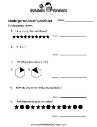 kindergarten math worksheets free printable worksheets for