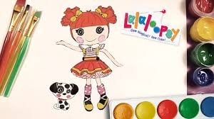 lalaloopsy ember flicker flame draw and colour coloring pages