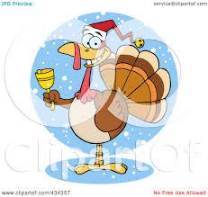 royalty free rf clipart illustration of a christmas turkey