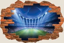 hole wall fantasy football stadium view stickers mural shop categories