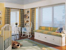 interior good looking picture of green and yellow baby nursery fascinating ideas for home interior space design using window seats with storage good looking picture