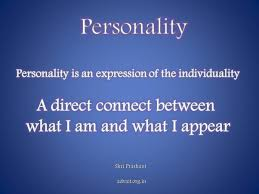 what does the word personality