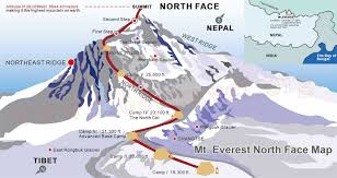 Himalayan Mts Map Plan A Mt Everest Base Camp Tour In Tibet Everest Base Camp Tibet