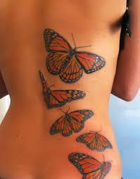 five butterflies back ideas