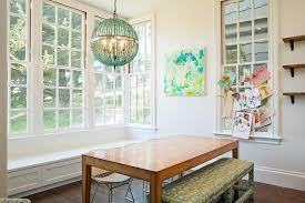 Beaded Turquoise Chandelier Turquoise Beaded Orb Chandelier Over Dining Table Contemporary