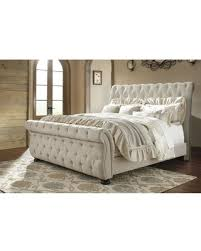 Tufted Sleigh Bed King Amazing Deal On Willenburg Linen King Upholstered Sleigh Bed By