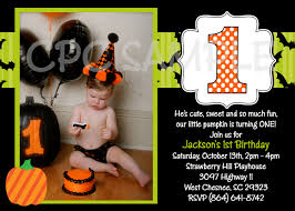 Kids Halloween Birthday Party Invitations by Halloween 1st Birthday Party Invitations Iidaemilia Com