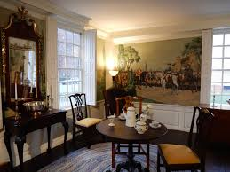modern colonial era home interior style with historic painting and