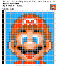 mario portrait palette 6 16 animal crossing pattern generator