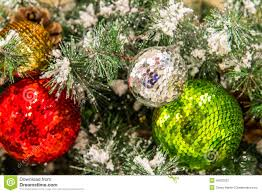 decorations green and gold ornaments stock photo