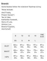 shoe size chart topshop mob size guide howtomeasure topshop